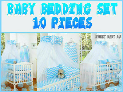 Baby bedding set for cot or crib 120 x 60 cm. So many colours and patterns