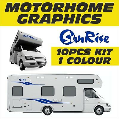 Motorhome Vinyl Graphics Stickers Decals  Set Camper Van Horsebox Fiat Ducato