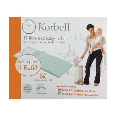 Korbell Nappy disposal system 15 litre capacity refill single pack