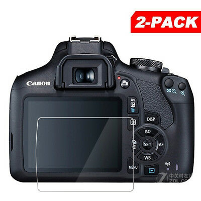 2x Tempered Glass Screen Protector for Canon EOS Rebel T7 / EOS 2000D Camera