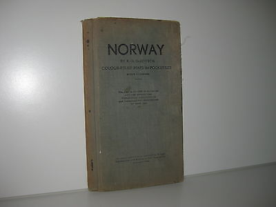 Norwegen Landkarte 1936 - NORWAY - Maps in Pocket-Size - by K. G. Gleditsch