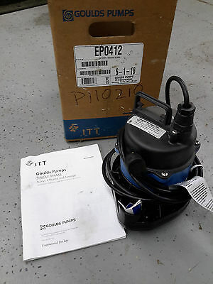 New Goulds Pumps Ep0412 4/10Hp 230V 1Ph Submersible Waste Pump