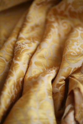 Antique French gold DAMASK SILK pannel #2 c1880