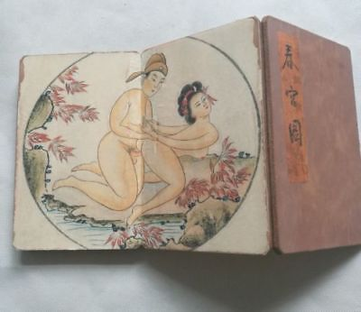 Pornography paper cloth Paint Erotic lust Exquisite Chinses Body Art old book