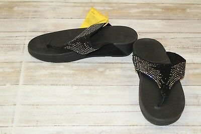 f7096ef1d76d FITFLOP FLARE Suede Rhinestone Thong Sandals