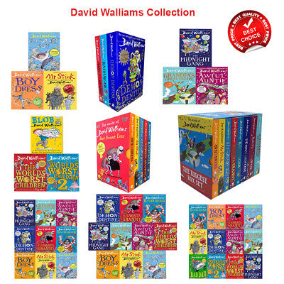 David Walliams books collection mr sink granny bad dad boy worst worlds Children