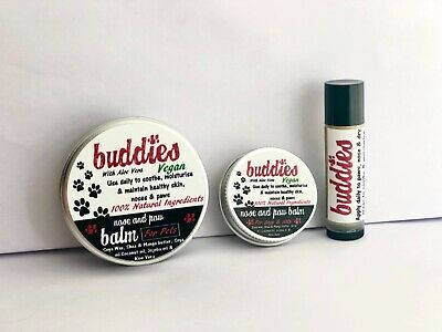 Buddies dog skin paw and nose balm for pets dry sore noses skin 30g 100g  NEW