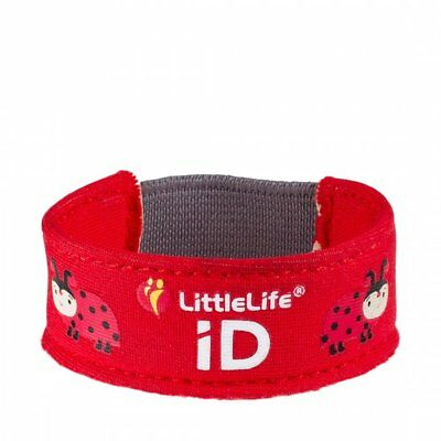 Littlelife Child ID Bracelet - Safety wristband with ID Slips - Ladybird