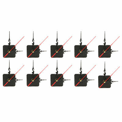 10x Quiet Mute Hand Wall Quartz Clock Movement Mechanism Repair Tool Parts Kit C