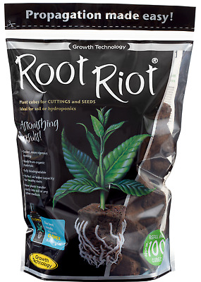 Root Riot 24 Tray ,50 and 100 Refill Bag Propagation Cubes Hydroponics