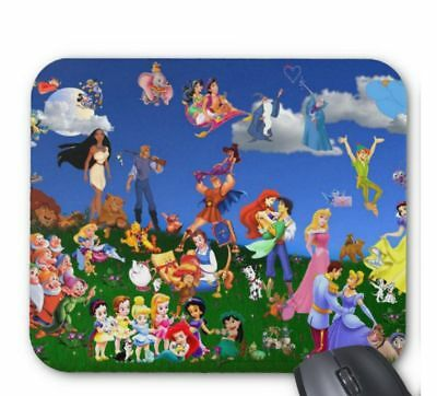 Disney Cartoons Laptop Desktop Computer Mouse Mat Pad Rectangular 5mm Very Thick