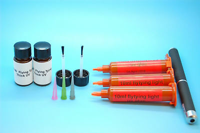 30ml Light + 20ml Thick UV Resin, Glue for Fly Tying + 1MW Laser Pen for curing
