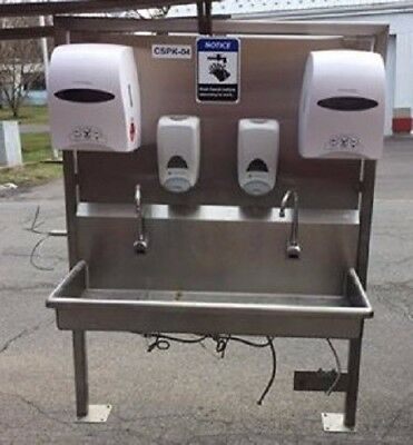 Sani-Lav 2 person hands free Stainless Steel Sink