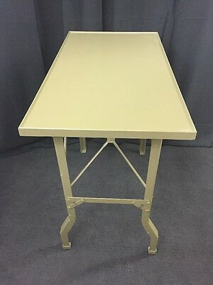 CAMBRIDGE Folding Surgical Instrument & Dressing Table Military MASH Green