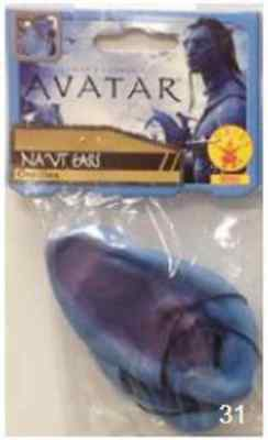 Na'vi Ears Avatar Blue Alien Pointed Fancy Dress Halloween Costume Accessory