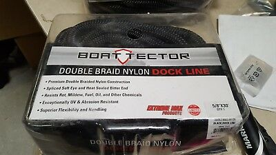 "Lot of 3 Boat Tector 3006.2141  Double Braid Nylon Dock Line - 5/8"" x 30', B..."