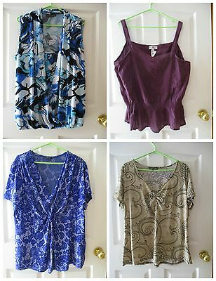 Lot of 9 Women's 2X Tops-Jones New York, Red Coral, Addition Elle + More