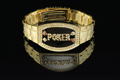 Poker Bracelet Gold Elite - Dark Faceplate NEW for Tournament Winners