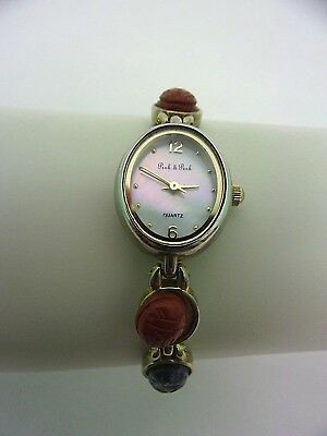 Vintage Quartz Peck & Peck Gem Wrist Watch Analog Gold Tone From Sacks Fifth Ave