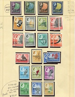 Weeda Swaziland 111-114, 143-159 VF MNH 1964, 1968 Railway/Independence CV$58.50