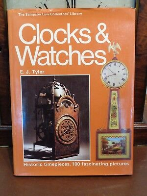 "CLOCKS & WATCHES Book by E. J. Tyler"" Hardback 80 pages mantle bracket pocket"