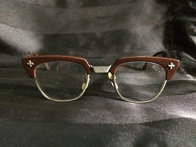 Vintage Bausch & Lomb Safety glasses. B&L, brown frame. Classic!