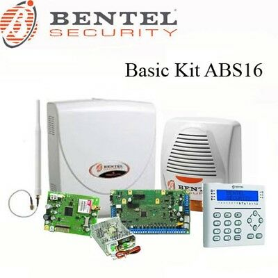 Kit Antifurto filare 16 zone Bentel security BASIC KIT ABS16 combinatore gsm