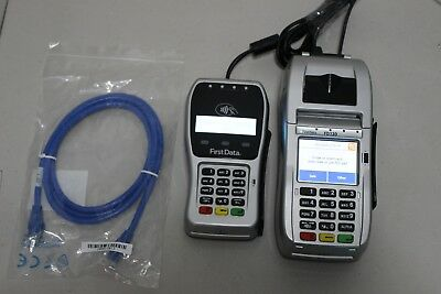 First Data FD130 Credit Card Terminal and FD-35 EMV PIN Pad POS Point of Sale