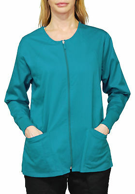Simply Smile Stretch Twill Zip-Front Warm-Up Jacket (Plus Sizes Available)
