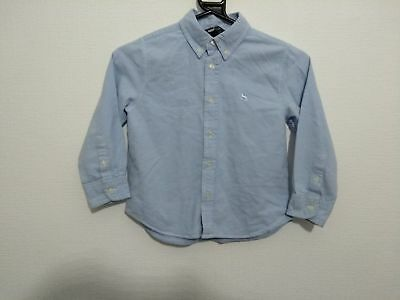 Boys H&m Blue Long Sleeved Smart Shirt Age 5-6 Years ##a7