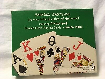 Shoebox maxine set of 2 playing cards from hallmark one sealed deck shoebox greetings maxine double deck playing cards m4hsunfo