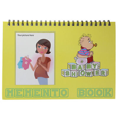 Baby Shower Memento Book with Departments for Well Wishes and Pictures