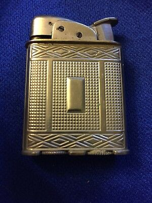 Vtg Evans Clipper Lighter Art Deco USA Made