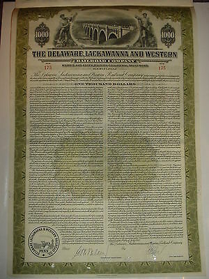 The Delaware Lackawanna & Western Railroad Company Bond Stock Certificate