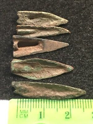 Ancient Roman Artifacts, 1st-3rd Century, AD. Bronze Arrowheads