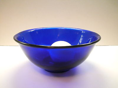 Antique late 19th-early 20thc. Chinese Cobalt Blue PEKING GLASS Bowl