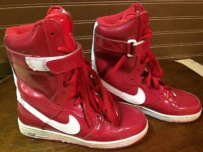 Nike Air Force One High Top RED Size 5.5 Women 2000 Super Hi Top Vintage