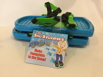 Sno-Stompers Footprints in Snow Toy Fits Onto Boots Up to Size 5 Blu NEW W/Tag