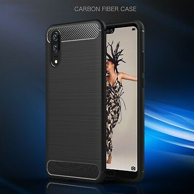 For Huawei P20/P20 Pro Shockproof Heavy Duty Rugged Carbon Fiber Hard Case Cover