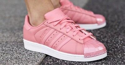 new product 9cad2 a0e8d 1711 Adidas Originals Superstar By9750 Metal Toe Rose Womens Sneakers Shoes