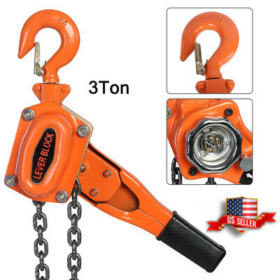 3TON /6600LBS LEVER BLOCK HOIST CHAIN RATCHET COME ALONG CHAIN HOIST US Stock