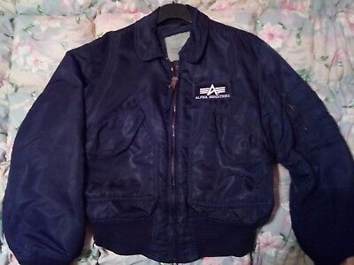 Bomber/giacca Alpha Industries Tg. M Nero