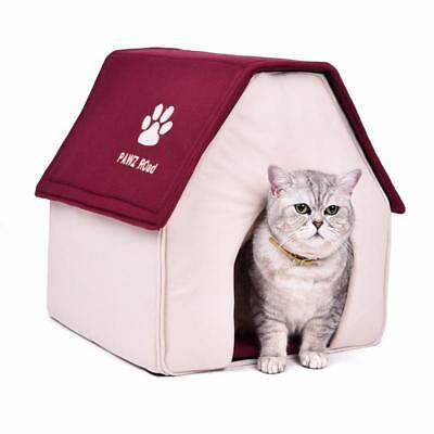 Dog House Bed Soft Blanket Pet Cat Home Warm Cushion Kennel Mat Pad Puppy Basket