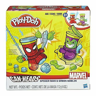 Play-Doh Marvel Can-Heads Featuring Spider-Man and Green Goblin New in Box