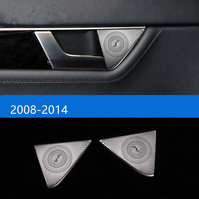 Car Door Stereo Speaker Decorative Trim For Mercedes Benz C class W204 2008-14
