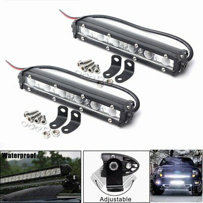 2x 36W 7inch LED Work Light Bar Spot Driving Lamp For Off Road SUV Truck 6000K