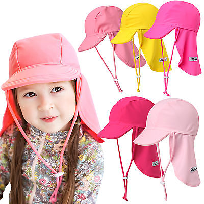 "Vaenait baby Infant Kids Girls Sun Protection Sporty Flap Swim Hat ""UV Flap Cap"""