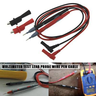 Multi Meter Multimeter Digital Test Lead Probe Wire Pen Cable W/ Alligator Clip