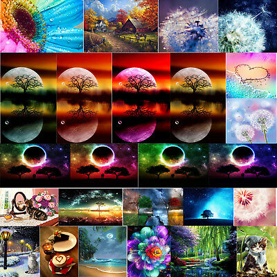 DIY Sky Moon 5D Full Drill Diamond Painting Embroidery Mosaic Cross Stitch Decor