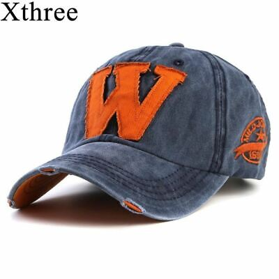 Cotton Embroidery Letter W Baseball Cap Snapback Caps Hat